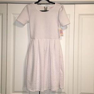 LuLaRoe White Amelia Dress